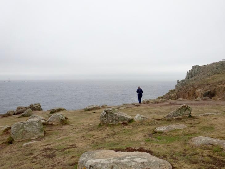 Land's End, Cornwall, England. Rocky cliffs, sea.