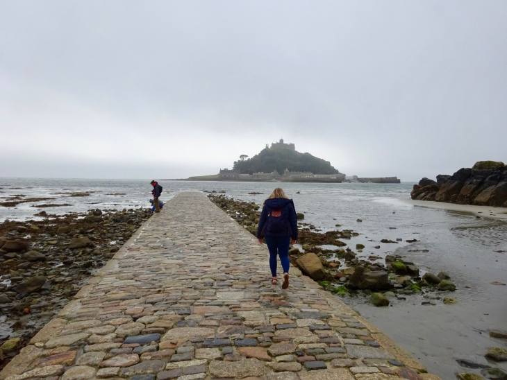 Causeway leading to St Michael's Mount, Cornwall