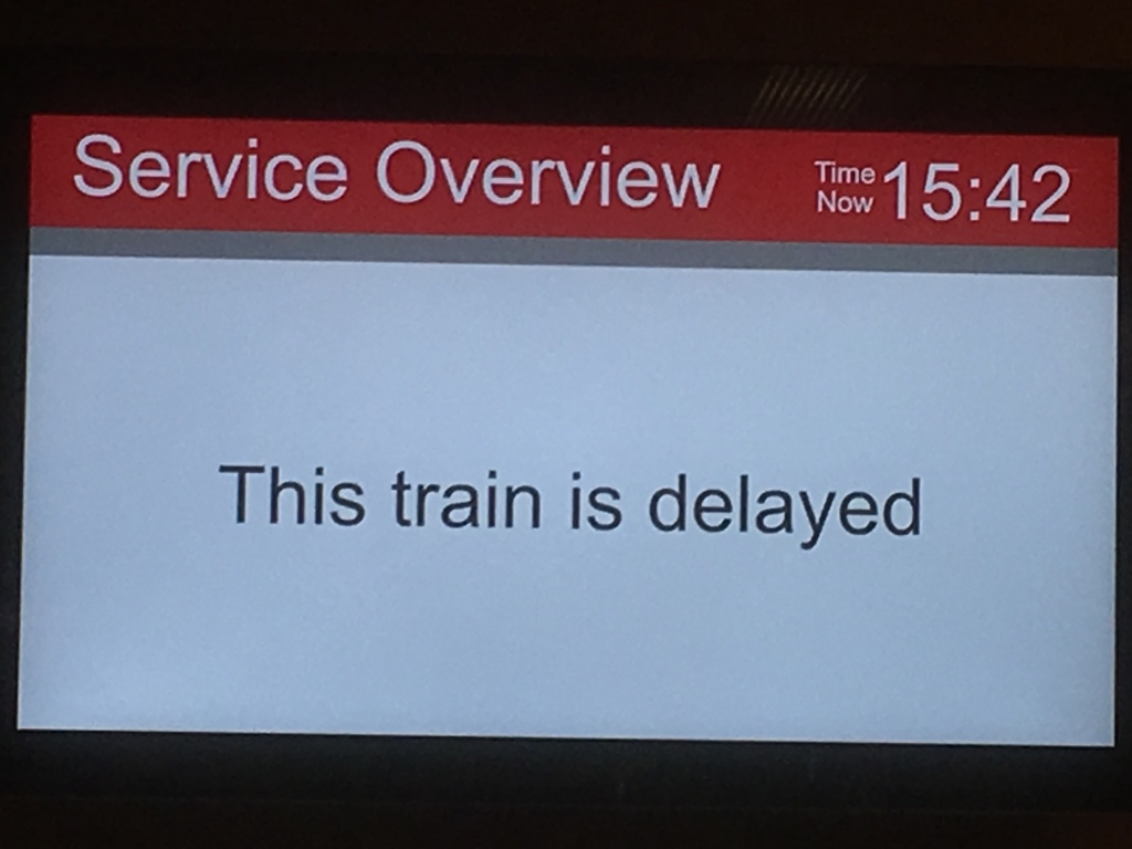 delayed train